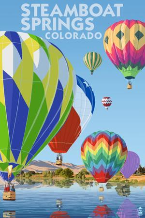 Steamboat Springs, Colorado - Hot Air Balloons by Lantern Press