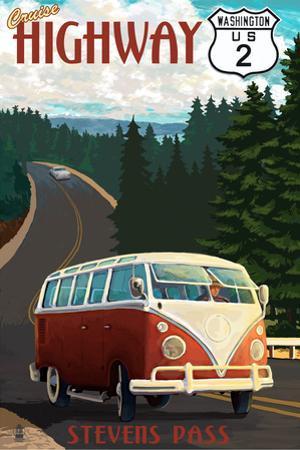 Stevens Pass, Washington - Cruise Highway 2 VW Van Scene