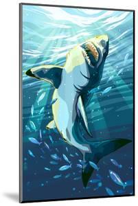 Stylized Great White Shark by Lantern Press