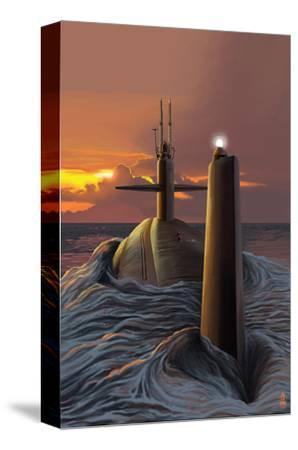 Submarine and Sunset