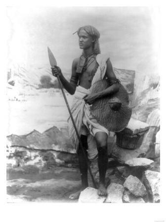 Sudan Warrior with Spear Photograph - Sudan