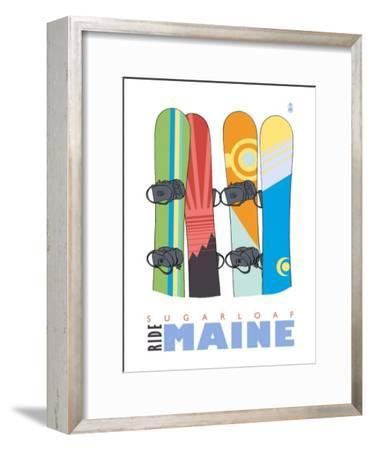 Sugarloaf, Maine, Snowboards in the Snow