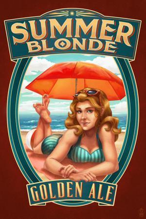 Summer Blonde Golden Ale Pinup Girl