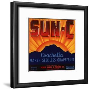 Sun C Brand - Indio, California - Citrus Crate Label by Lantern Press