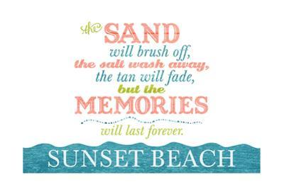 Sunset Beach, New Jersey - Beach Memories Last Forever by Lantern Press