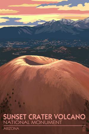 Sunset Crater Volcano National Monument, Arizona by Lantern Press