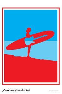 Surf Rock - John Van Hamersveld Poster Artwork by Lantern Press