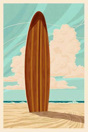 Surfboard - Letterpress