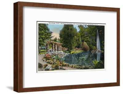 Syracuse, New York - Fountain and Japanese Pergola at Onondaga Park