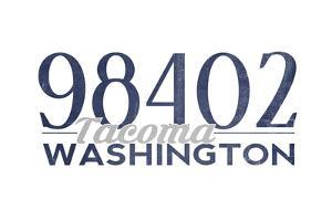 Tacoma, Washington - 98402 Zip Code (Blue) by Lantern Press