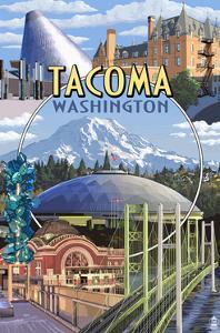 Tacoma, Washington - Montage Scenes by Lantern Press