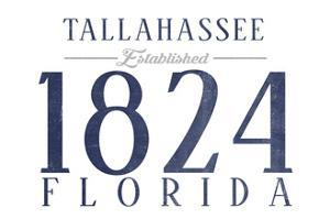 Tallahassee, Florida - Established Date (Blue) by Lantern Press