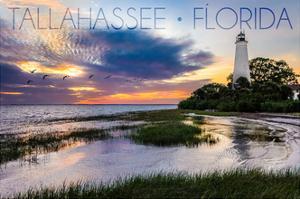 Tallahassee, Florida - St. Marks Lighthouse by Lantern Press