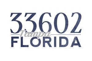 Tampa, Florida - 33602 Zip Code (Blue) by Lantern Press