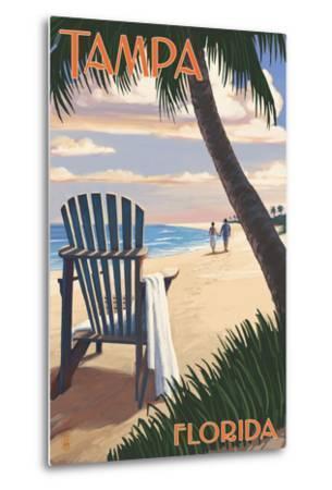 Tampa, Florida - Adirondack Chair on the Beach