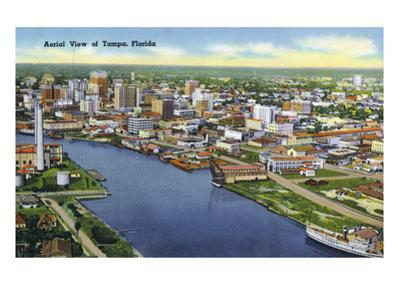 Tampa, Florida - Aerial View of the City