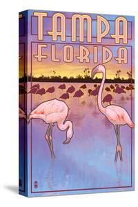 Tampa, Florida - Flamingos by Lantern Press