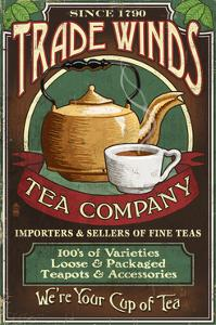Tea Shop - Vintage Sign by Lantern Press