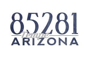 Tempe, Arizona - 85281 Zip Code (Blue) by Lantern Press