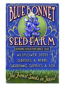 Texas Blue Bonnet Farm by Lantern Press