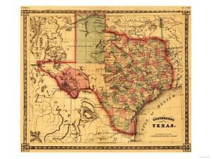 Texas - Panoramic Map by Lantern Press