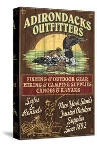 The Adirondacks, New York State - Outfitters Loon by Lantern Press