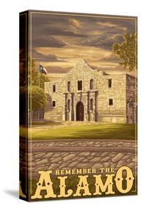 The Alamo Sunset - San Antonio, Texas by Lantern Press