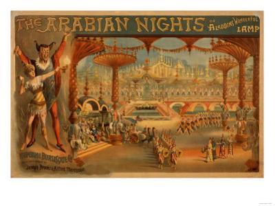 The Arabian Nights - Aladdin's Wonderful Lamp Poster by Lantern Press