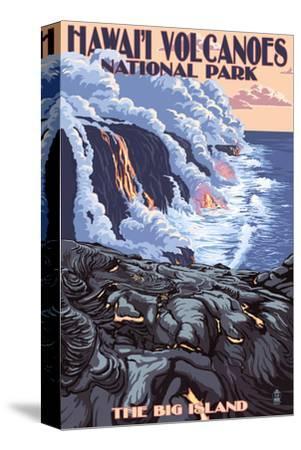 The Big Island, Hawaii - Lava Flow Scene