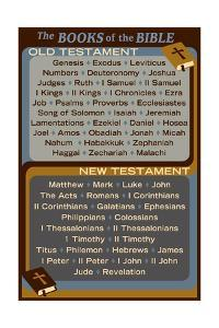 The Books of the Bible - Inspirational by Lantern Press