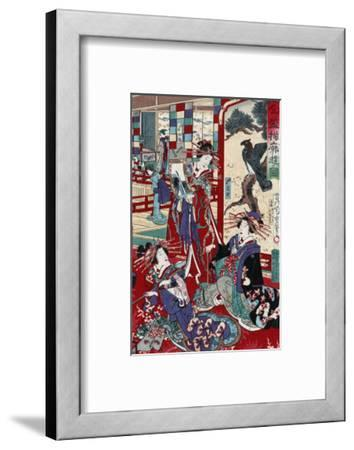 The Complete Views of Competing Brothel Houses, Japanese Wood-Cut Print