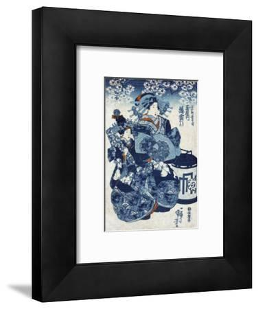 The Courtesan Usugumo of Tamaya, Japanese Wood-Cut Print
