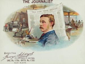 The Journalist Brand Cigar Box Label by Lantern Press