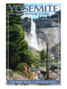 The Mist Trail - Yosemite National Park, California by Lantern Press