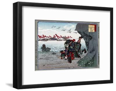 The Old Warrior Kumagai Naozane Killing the Young Taira no Atsumori, Japanese Wood-Cut Print