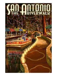 The Riverwalk - San Antonio, Texas by Lantern Press
