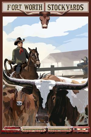 The Stock Yards - Fort Worth, Texas by Lantern Press