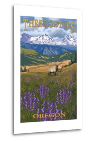 Three Sisters, Oregon - Elk and Flowers