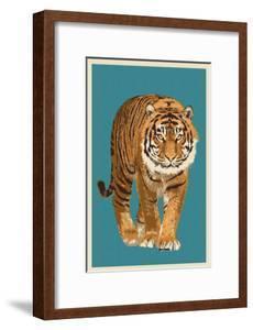 Tiger - Letterpress by Lantern Press