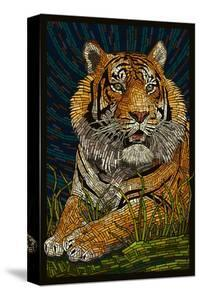 Tiger - Paper Mosaic by Lantern Press