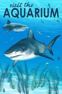 Tiger Shark - Visit the Aquarium by Lantern Press