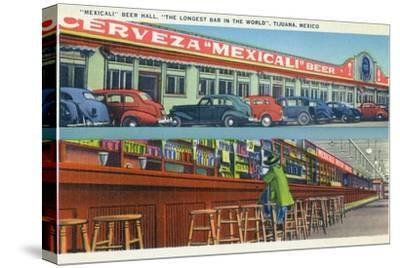 Tijuana, Mexico - Mexicali Beer Hall, Longest Bar in World