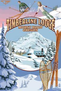 Timberline Lodge - Winter Views - Mt. Hood, Oregon by Lantern Press