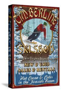 Timberline, West Virginia - Ski Shop by Lantern Press