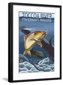 Toccoa River - Trout under Water by Lantern Press