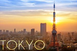 Tokyo, Japan - City View and Sunset by Lantern Press