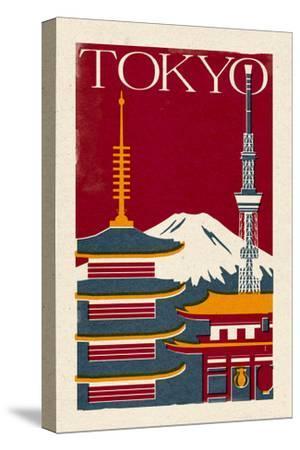 Tokyo - Woodblock by Lantern Press