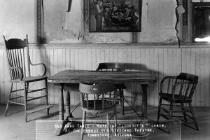 Tombstone, Arizona - Birdcage Theatre Old Faro Table by Lantern Press