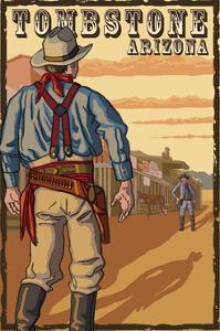 Tombstone, Arizona - Cowboy Standoff by Lantern Press