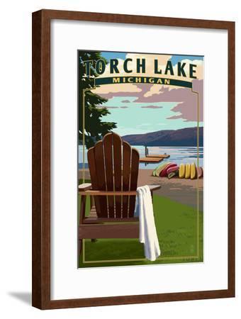 Torch Lake, Michigan - Adirondack Chairs
